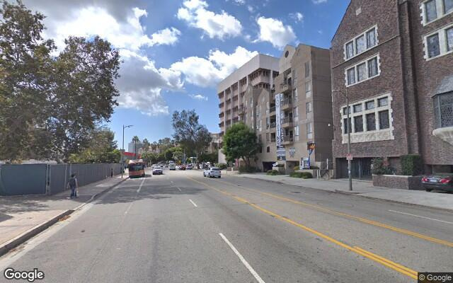 parking on Gayley Ave in Los Angeles
