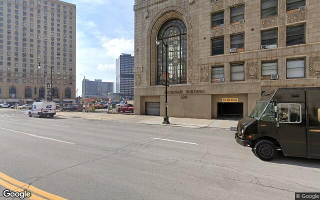 parking on Bagley Avenue in Detroit