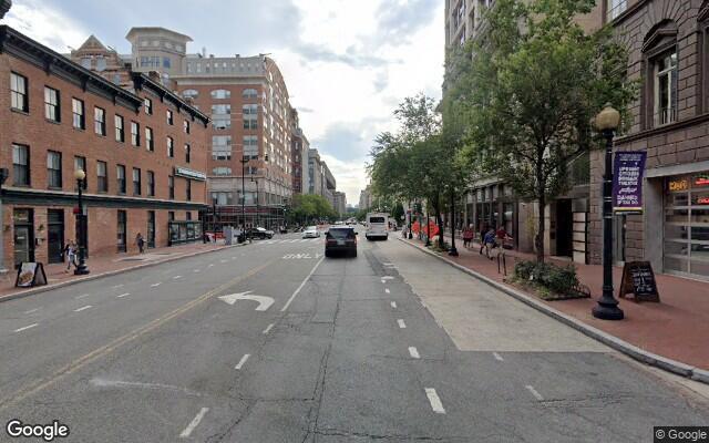 parking on E Street Northwest in Washington