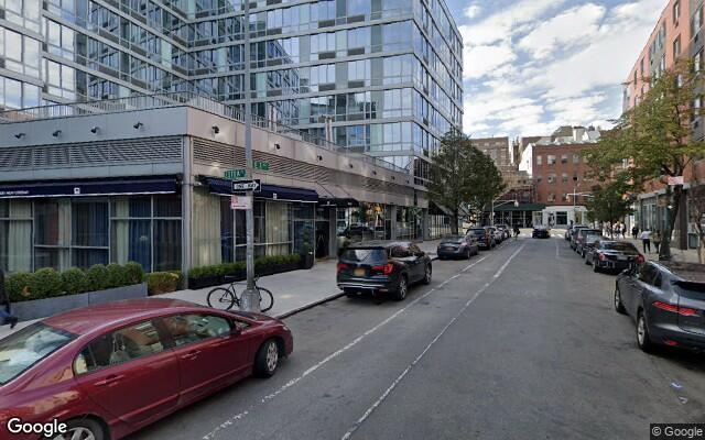 parking on East 1st Street in New York