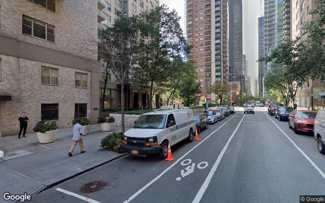 parking on East 40th St in New York