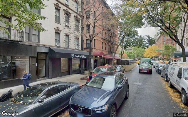 parking on East 78th Street in New York City