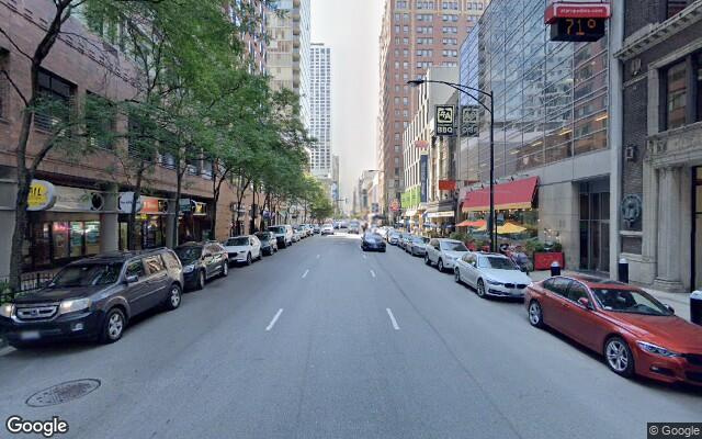 parking on East Ohio Street in Chicago