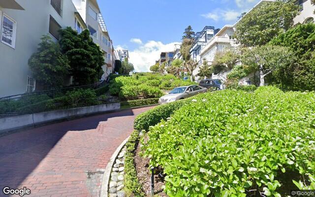 parking on Lombard Street in San Francisco