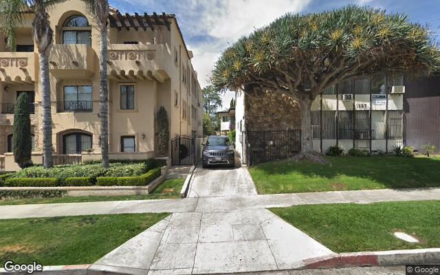 parking on North Curson Avenue in Los Angeles