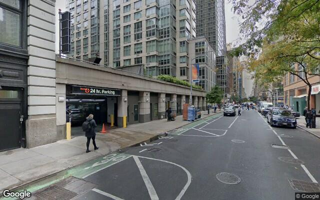 parking on West 25th Street in New York