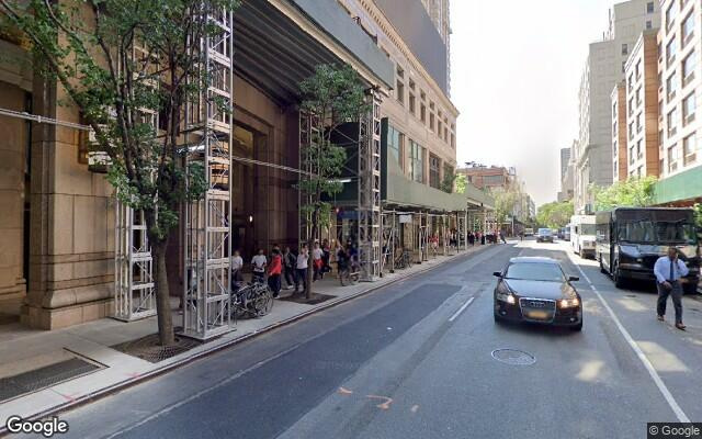 parking on West 50th St in New York