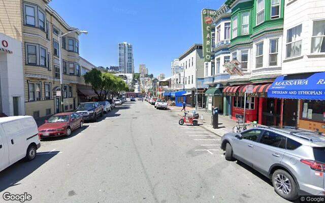parking on Green Street in San Francisco