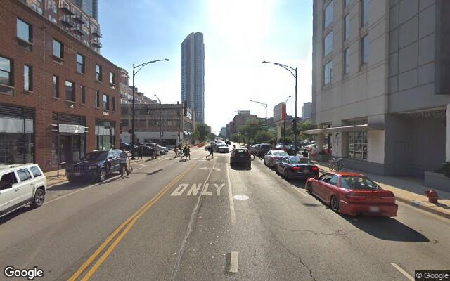 parking on West Grand Avenue in Chicago