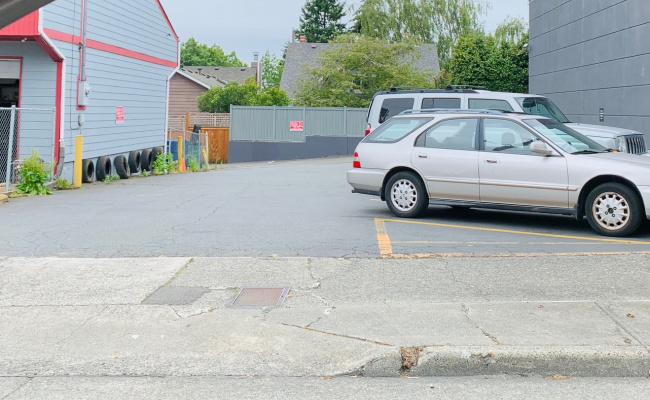 Outdoor lot parking on 15th Avenue Northwest in Seattle