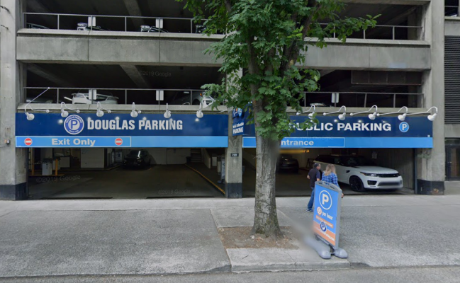 Garage parking on 1st Avenue in Seattle