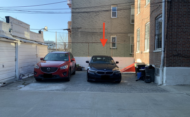 Driveway parking on 21-35 29th Street in Queens