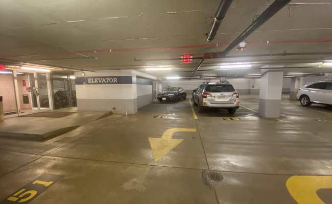 Garage parking on 23rd Street NW in Washington