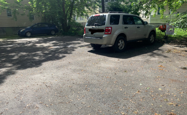 Outdoor lot parking on Appian Way in Allston