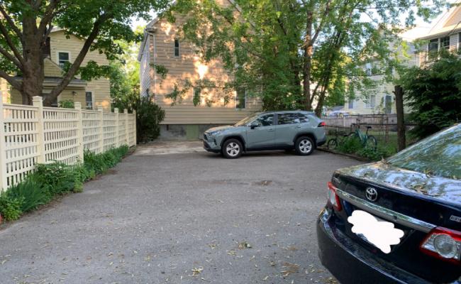 Outside parking on Appian Way in Boston
