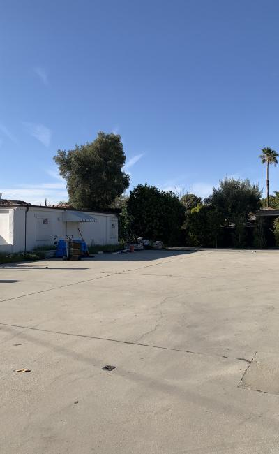 Outdoor lot parking on Arminta Street in North Hollywood