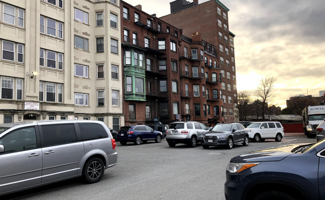 Outdoor lot parking on Beacon Street in Boston