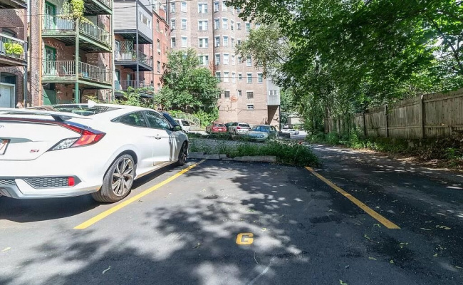 Outdoor lot parking on Beacon Street in Brookline