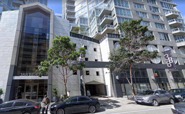 Indoor lot parking on Beale Street in San Francisco