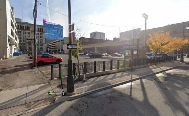 parking on Brush St in Detroit