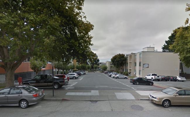 Outdoor lot parking on Buchanan Street in San Francisco