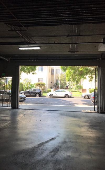 Indoor lot parking on Burton Way in Los Angeles