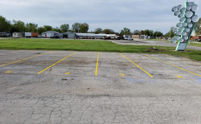 parking on Carlinville Plaza in Carlinville