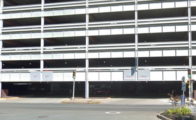 Indoor lot parking on Centre Street in Malden