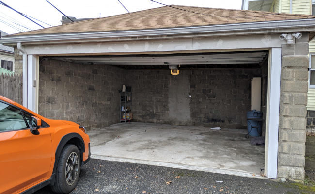 Covered parking on