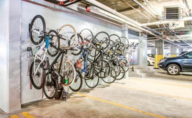 Indoor lot parking on Clinton Street in Hoboken