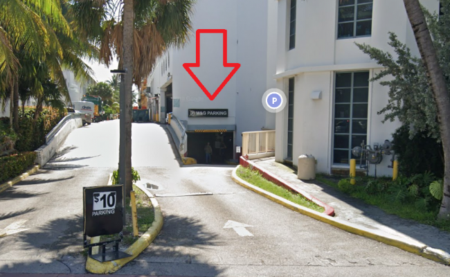 Indoor lot parking on Collins Avenue in Miami Beach