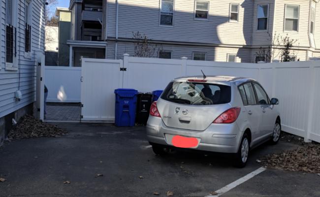 Driveway parking on Cypress Street in Brookline
