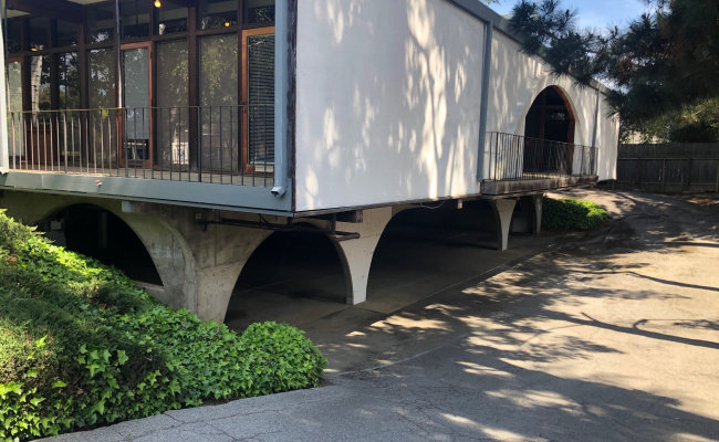 Covered parking on Distel Drive in Los Altos