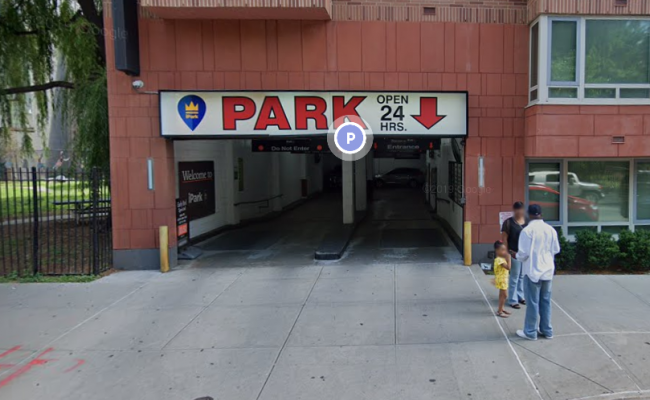 Garage parking on East 124th Street in New York City