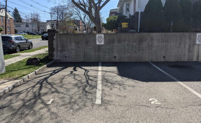 Outdoor lot parking on Grand Avenue in Palisades Park