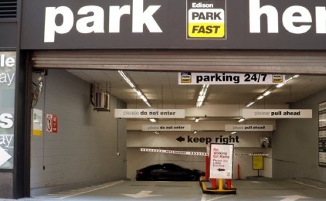 Indoor lot parking on Groveland Avenue in Minneapolis
