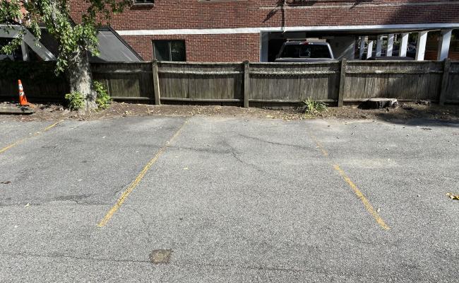 Outdoor lot parking on Harvard Street in Cambridge