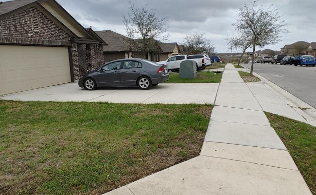 parking on Hoya Lane in San Marcos