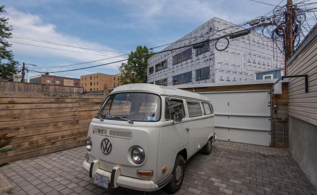 Garage parking on I Street Northeast in Washington