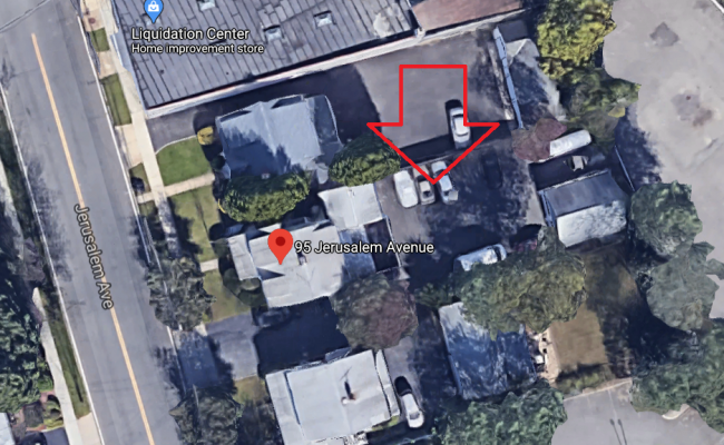 parking on Jerusalem Avenue in Hicksville