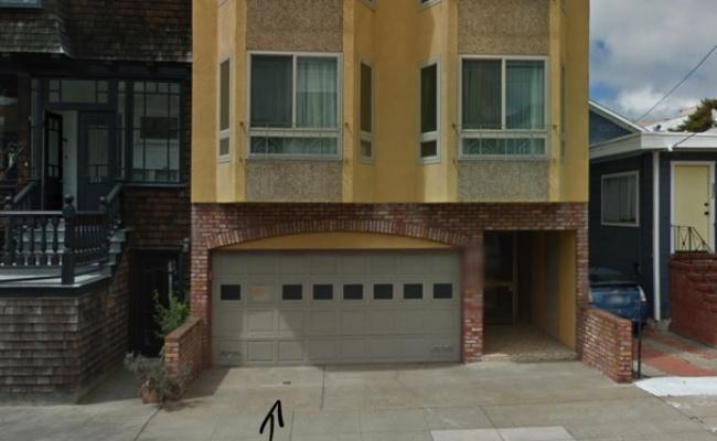Garage parking on Kirkham Street in San Francisco