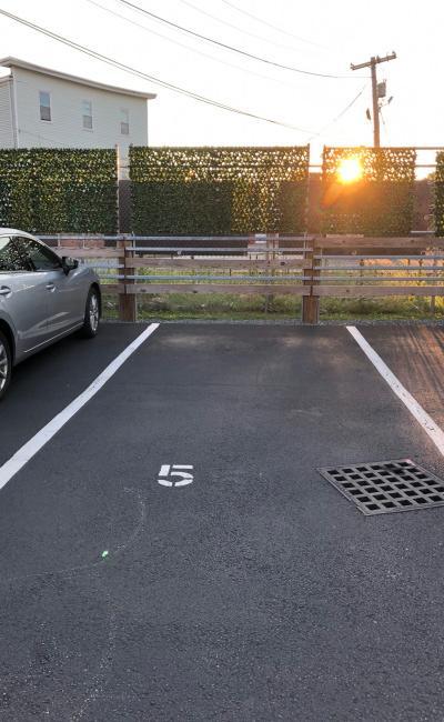 Outdoor lot parking on Medford Street in Somerville