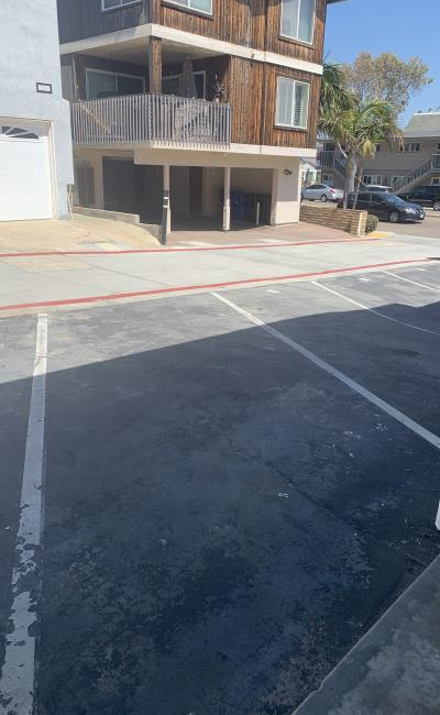 Outside parking on Mission Boulevard in San Diego