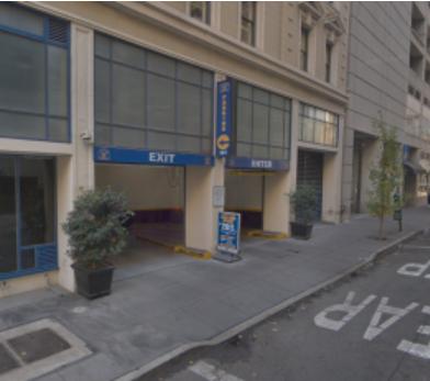 Indoor lot parking on Mission Street in San Francisco
