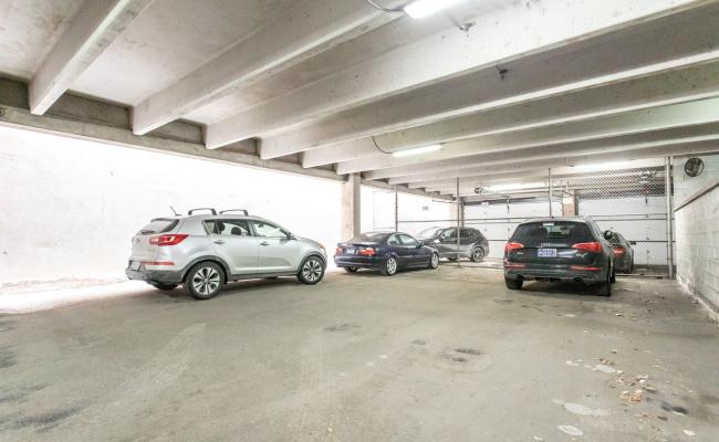 Garage parking on North Clinton Street in Chicago