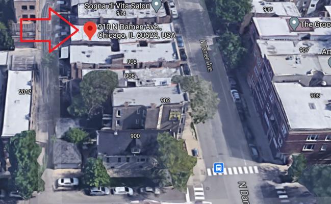 parking on North Damen Avenue in Chicago