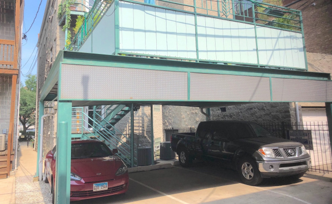 Carport parking on North Dean Street in Chicago