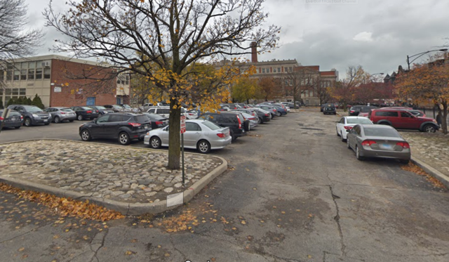 Outdoor lot parking on North Orchard Street in Chicago