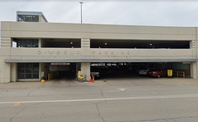 Garage parking on North Plankinton Avenue in Milwaukee