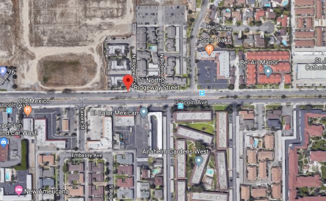 parking on North Ridgeway Street in Anaheim